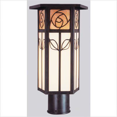 """Arroyo Craftsman SCP Saint Clair Outdoor Post Lantern by Arroyo Craftsman. $280.48. Arroyo Craftsman SCP Features: -Saint Clair collection. -Available in several finishes. -Available in several shade colors. -UL listed. -Suitable in wet location. Specifications: -Accommodates: 1 x 60W / 1 x 100W medium incandescent bulb. -ID post cup: 3"""". -Available sizes:. -16"""" Overall dimensions: 16"""" H x 8"""" W. -12"""" Overall dimensions: 12"""" H x 8"""" W. Note: Arroyo Craftman items with Antique C..."""