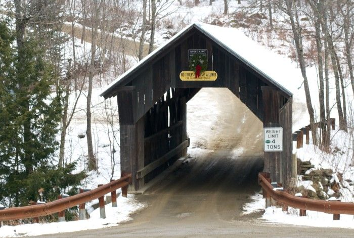 21) Emily's Covered Bridge, Stowe. There is an old tale surrounding this bridge about a girl named Emily who committed suicide here after her lover left her. It's rumored that she can still sometimes be seen wandering around the bridge looking for her man on some nights.