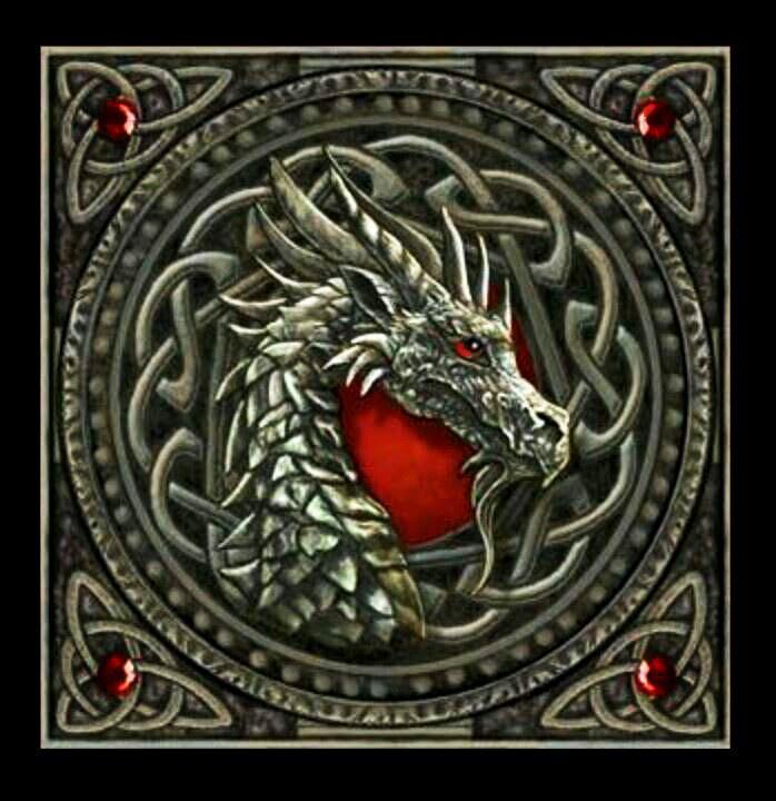 Celtic Dragon Fantasy Art Beautiful