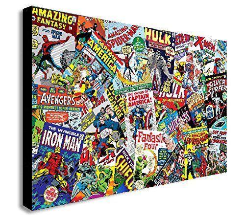 Marvel Comic Buch Basteln Stoffdruck Thor Iron Man Captain America