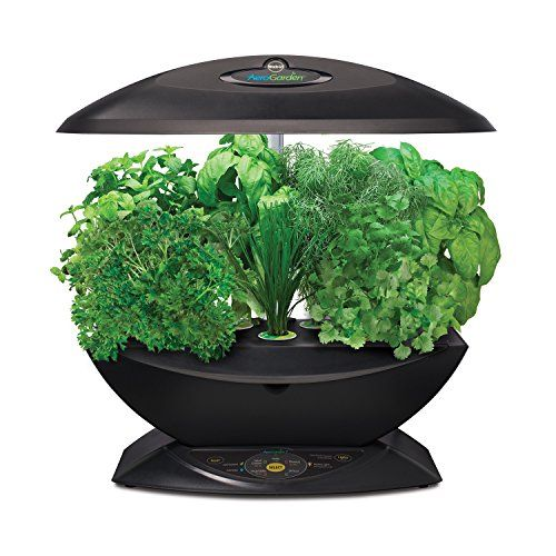 BUY NOW YEAR ROUND gardening, in the comfort of your kitchen! Aerogarden Indoor Grower, ON SALE! Grow herbs, vegetables and flowers INDOORS, all year long! The Aerogarden uses state-of-the-art aeroponics to grow plants without the use of soil, and with 95% less water than soil-bound plants. Instead of dirt, each plant s root system is suspended in a 100% humid, oxygenated and nutrient-rich growing chamber. Full-spectrum fluorescent light bulbs pr