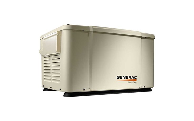 Generac 6519 PowerPact 7kW Liquid Propane / Natural Gas Air Cooled Standby Gener Bisque Generators Home Standby
