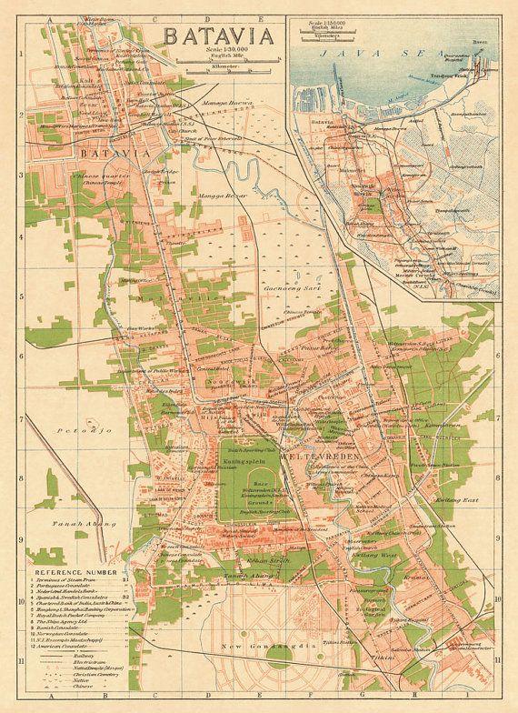 Jakarta vintage map