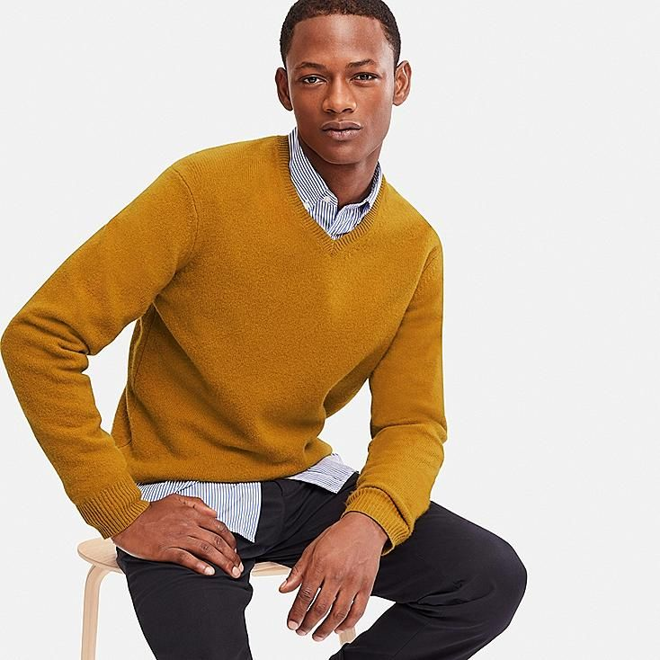 Round Neck MY BASIC Premium Man Jumper Cotton-Cashmere