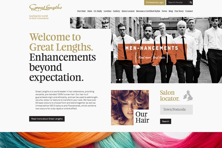 Great Lenths website – nice layout! #webdesign #wordpress