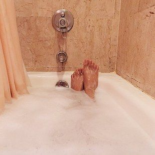 And taking baths. | 23 Little Things Girls With Tall Boyfriends Learn