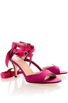 FENDI CIRCUS Purple Ribbon Sandals -