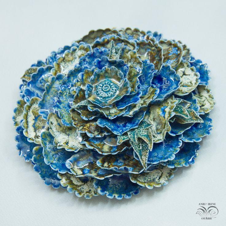 """438 отметок «Нравится», 25 комментариев — Porcelain flowers. Ceramics. (@anri.irene_porcelain.art) в Instagram: «Porcelain """"Ocean flower"""". Wall decor. D 19-20cm 7,8"""" #porcelain #porcelainflowers #ceramicflowers…»"""