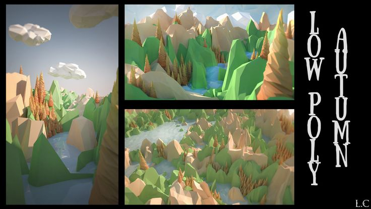 Low poly Autume, Lochlan Coull on ArtStation at https://www.artstation.com/artwork/gwQYx