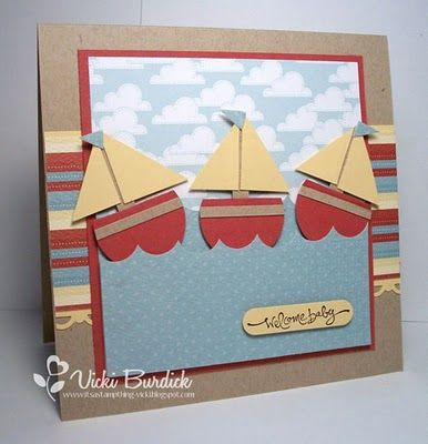 Stampin' Up! Boat Punch Art.