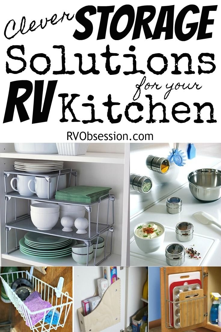 Small Kitchen Storage Ideas Small Kitchen Storage Rv Living Organization Rvs Kitchen