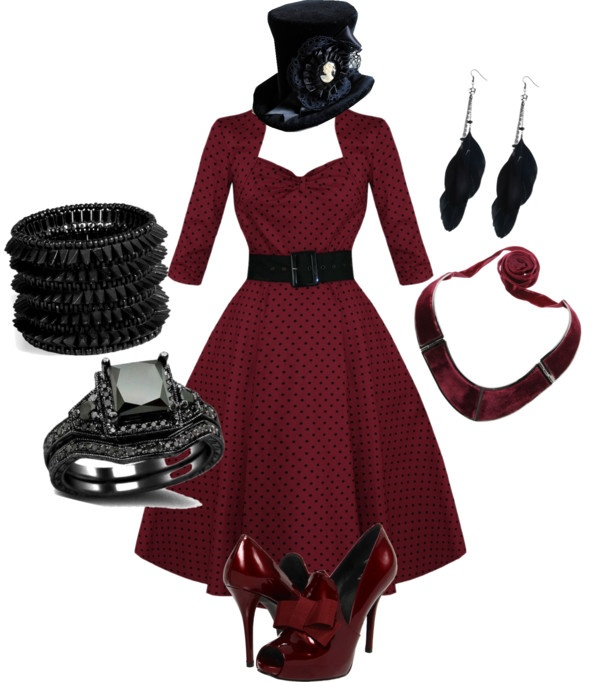 """Vampire Outfit pt 1"" by bigappler ❤ liked on Polyvore"