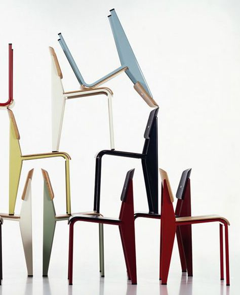 Jean Prouve's standard chairs used these at our Beach House love them so ooh much