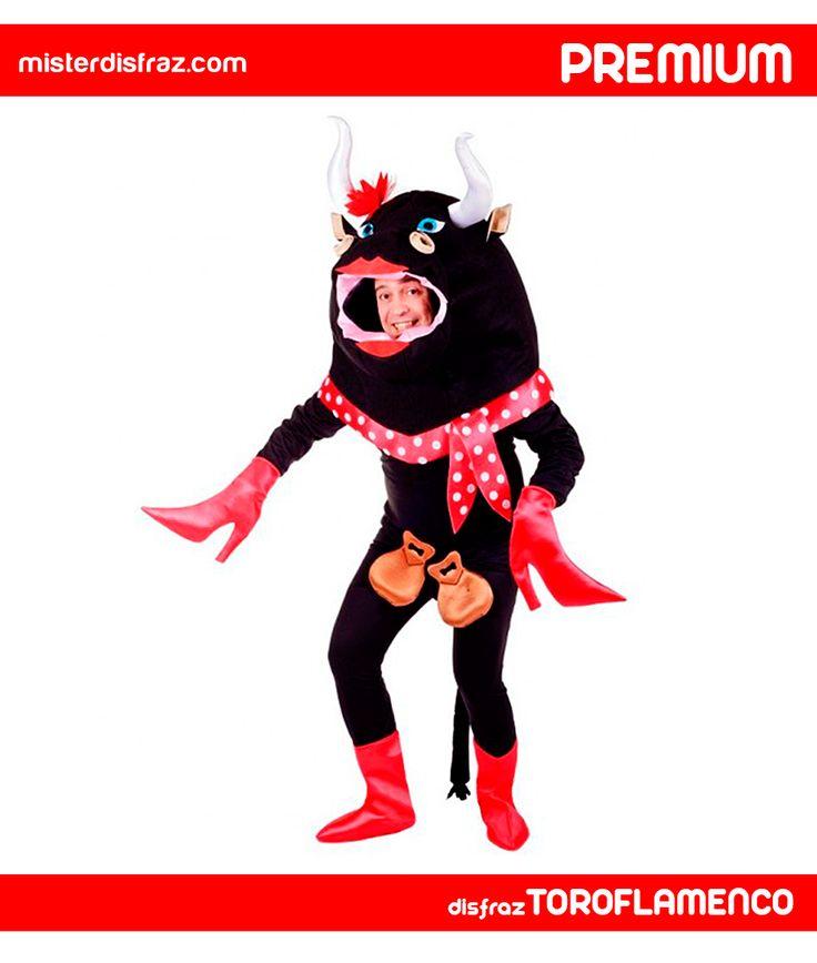 Disfraz de Toro Flamenco Elegante Adult@. Con este disfraz triunfarás como los toreros en las mejores fiestas de disfraces. Es perfecto para Carnavales, Fiestas temáticas o para disfrutar de una despedida de solter@. #disfraz #disfraces #disfrazadult@ #disfraztoroflamenco #toroflamenco #carnaval #premium #disfracespremium #premiumanimales #misterdisfraz