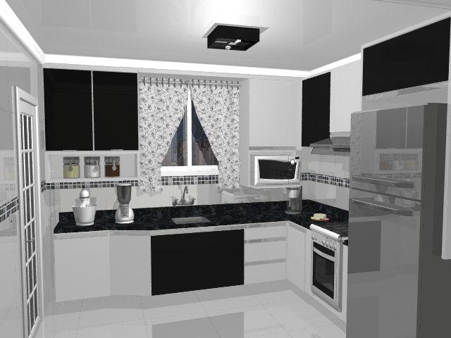 cozinha em preto e branco - Google Search