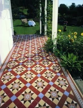 Ryan's Mozaiektegelvloer, patroon: Blenheim