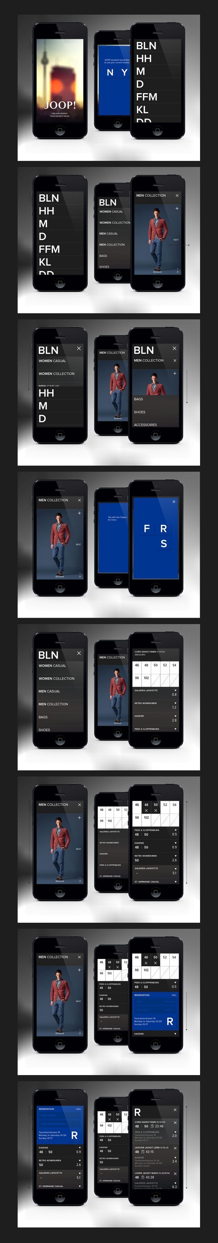 JOOP! Assistent - iPhone App / Conny Naumann #ui #design #user #iterface #ios
