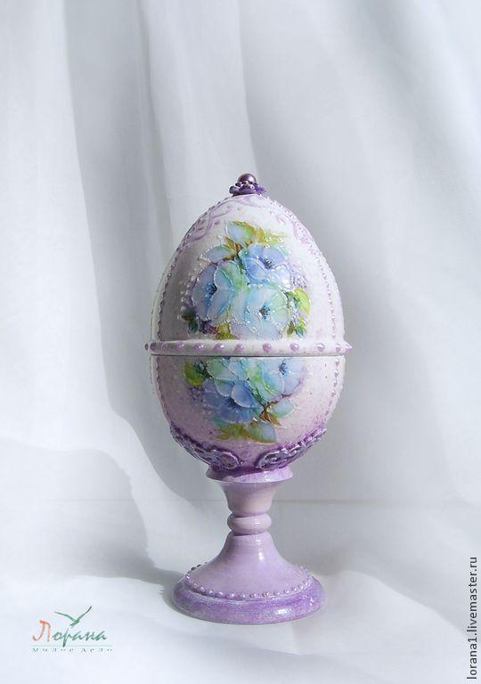 """Пасхальные сувениры. Яйцо """"Фиалки"""". - Пасха,подарки к праздникам,подарки к пасхе"""