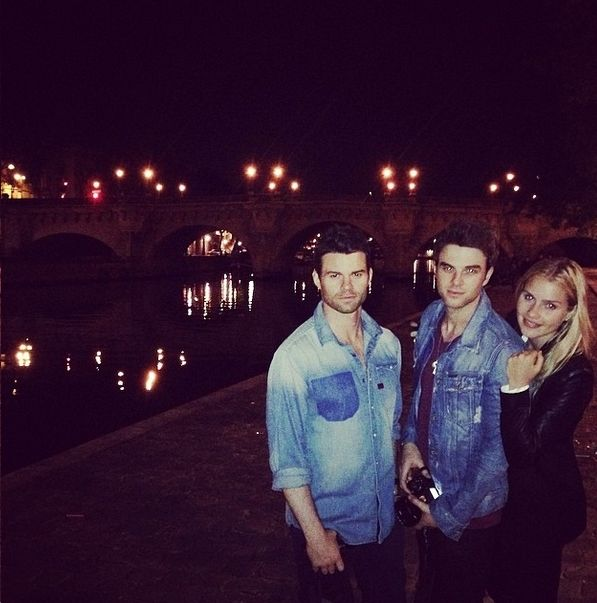 Nathaniel Buzolic and claire holt