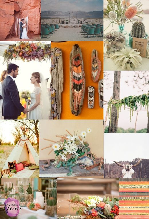 natural palm springs wedding