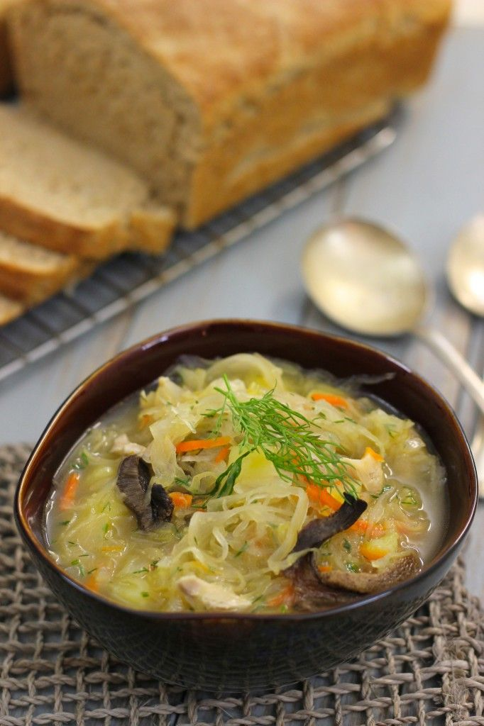 Shchi- Russian Cabbage Soup (Щи)