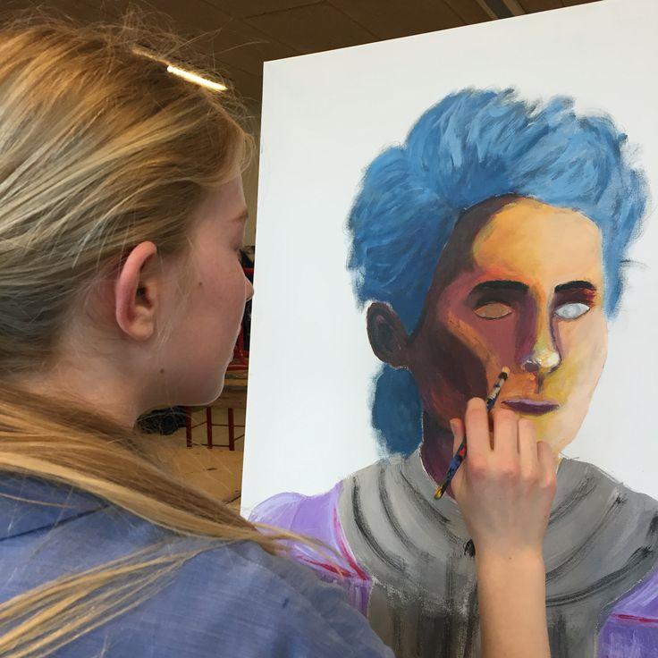 Portræt af madame Curie