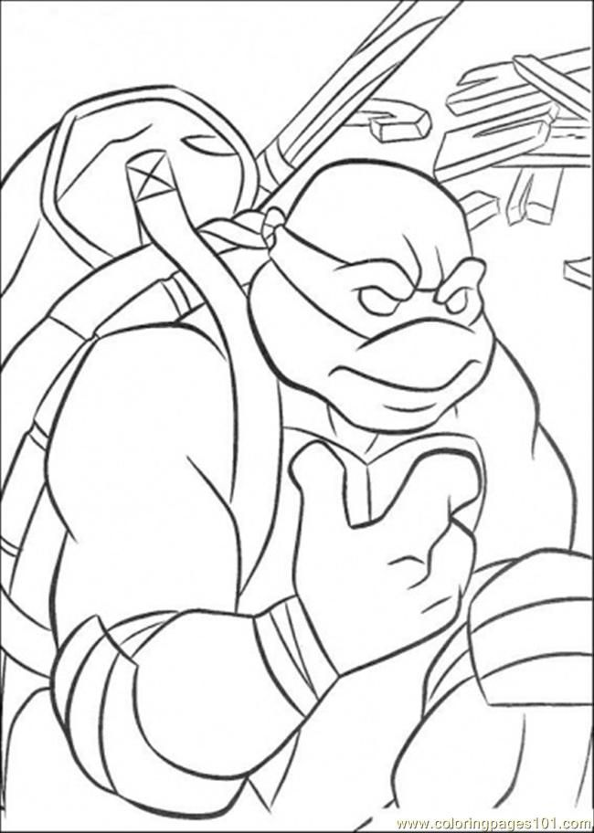Ninja Turtle Donatello Colouring Pages Ninja Turtle Coloring