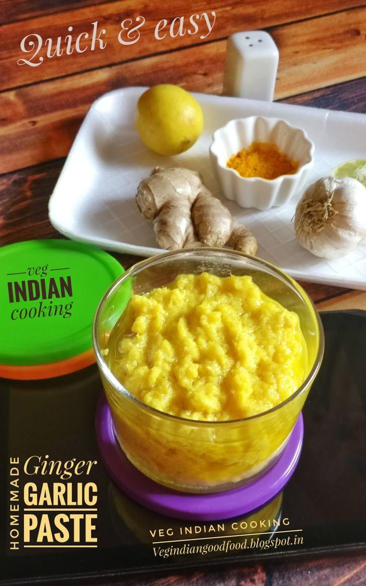 Homemade Ginger Garlic Paste Garlic ginger paste recipe