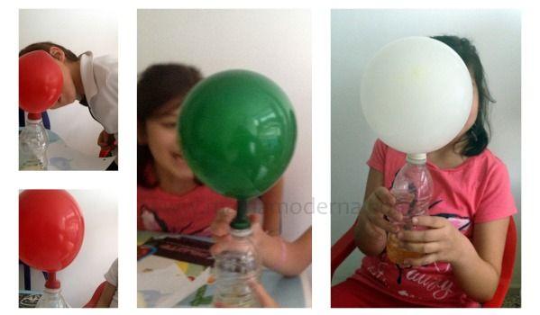 Inflando globos con magia, realmente es una divertida reacción química. Todos los detalles aquí: http://mamamoderna.com.mx/2014/05/inflando-globos-con-magia.html