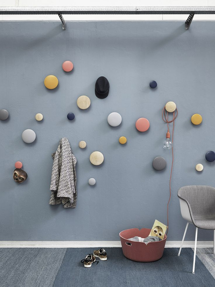 Use Dots in the kitchen or bedroom as an aesthetic accessory.   The instant classic — The Dots with Fiber chair inside upholstery.   #muuto #muutodesign