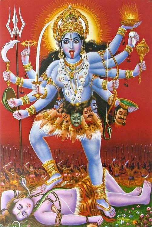 Resultado de imagen de diosa kali brazos