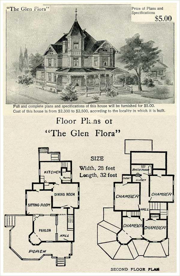 Gothic victorian house floor plan