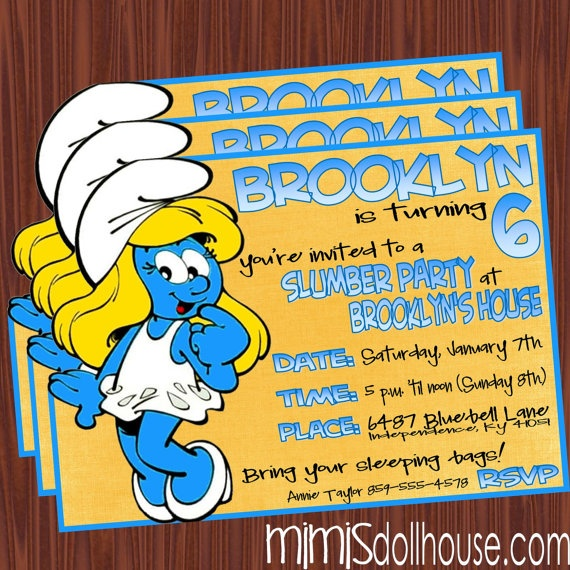 122 Best Images About SMURFS PARTY On Pinterest