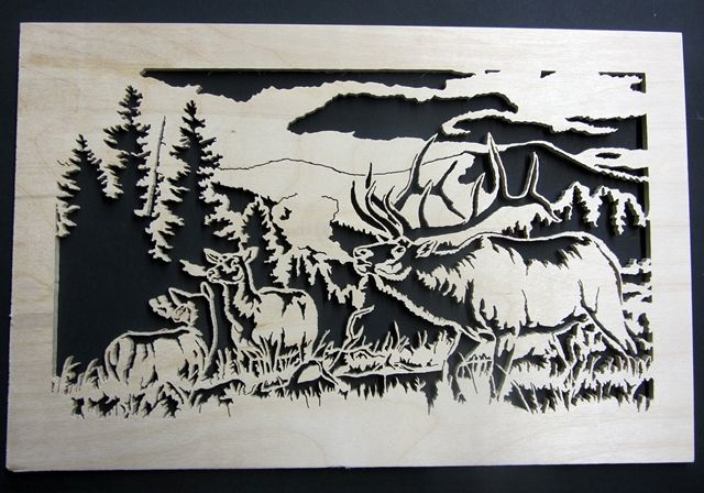 Elk in the Blue Mountains - Scrappile Scrolling - User Gallery - Scroll Saw Village