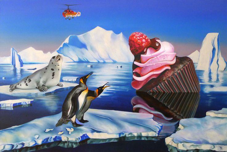 """Beautiful Disaster"", oil, yolk tempera on canvas, 120cm x 80cm, 2014  www.justynakisielewicz.com"
