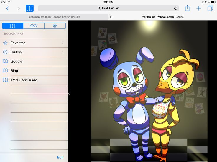 Toy Bonnie & toy Chica Fnaf drawings, Ipad user guide
