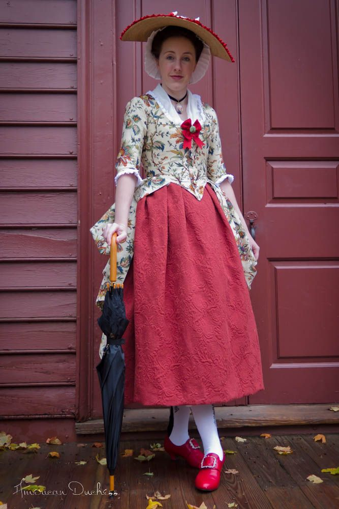 American Duchess:Historical Costuming: V281: Rainy Sunday in Colonial Williamsburg | Historical Costuming and sewing of Rococo 18th century clothing, 16th century through 20th century, by designer Lauren Reeser