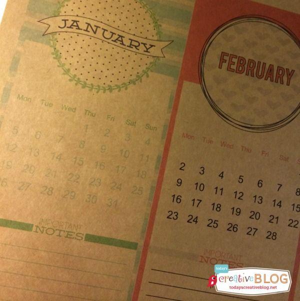 2015 Calendar FREE Printable | TodaysCreativeBlog.net