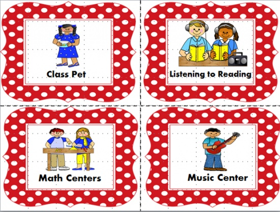 Classroom Jobs and Center Charts product from Mrs-Fielding on TeachersNotebook.com