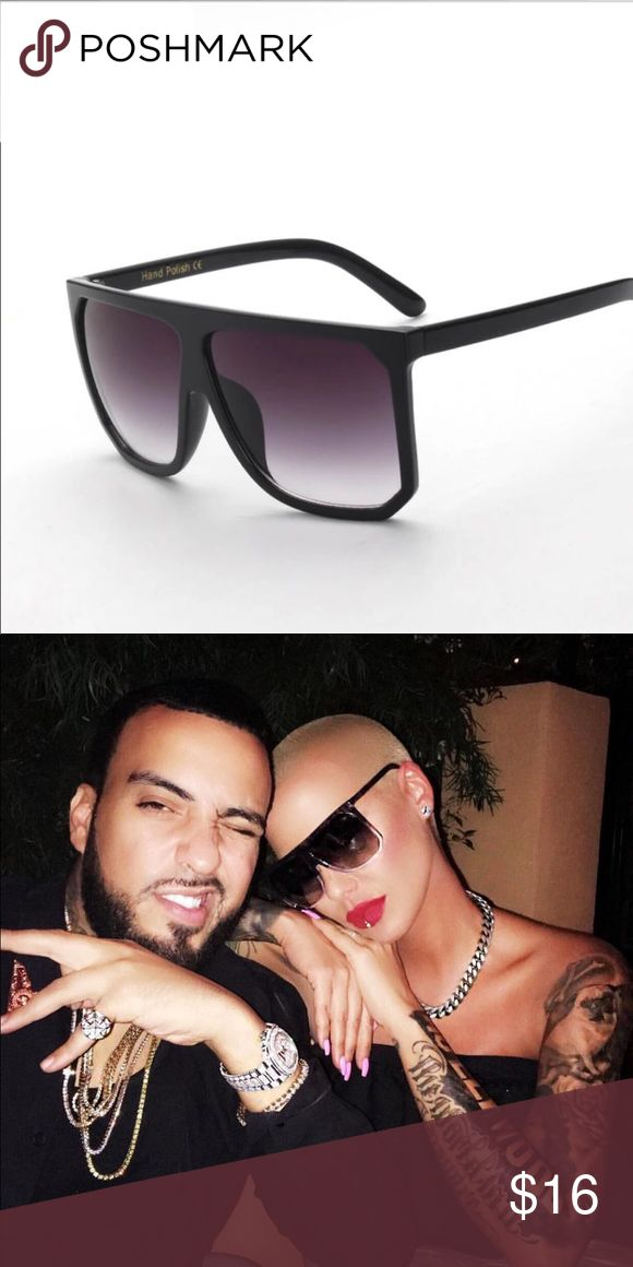 Amber- Flat Top Black Square Sunglasses Amber- Flat Top Modern Frame All Black Sunglasses  As seen on Amber Rose & Kylie Jenner   High Quality Material   Does not include case   Bundle to save    Follow & Tag : IG: ShopBellaVictoria FB: BellaVictoria BellaVictoriaBoutique Accessories Sunglasses