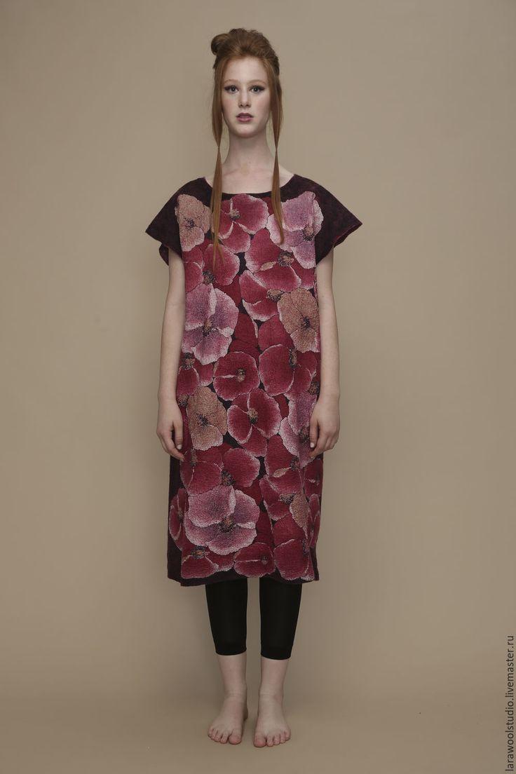 Туника с цветочным принтом « Бургунди» – купить или заказать в интернет-магазине на Ярмарке Мастеров | Туника «Бургунди» с цветочным принтом, со…
