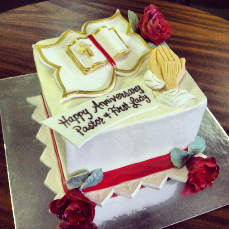 Pastor s Anniversary Cake. Veronica s Custom Bakery in ...