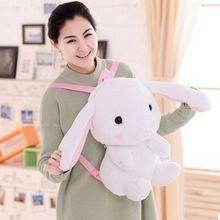 Hot! leuke konijn rugzak kids zachte pluche dier lolita pop speelgoed tas dame kawaii Lange Oren bunny rugzak voor meisjes gift(China (Mainland))