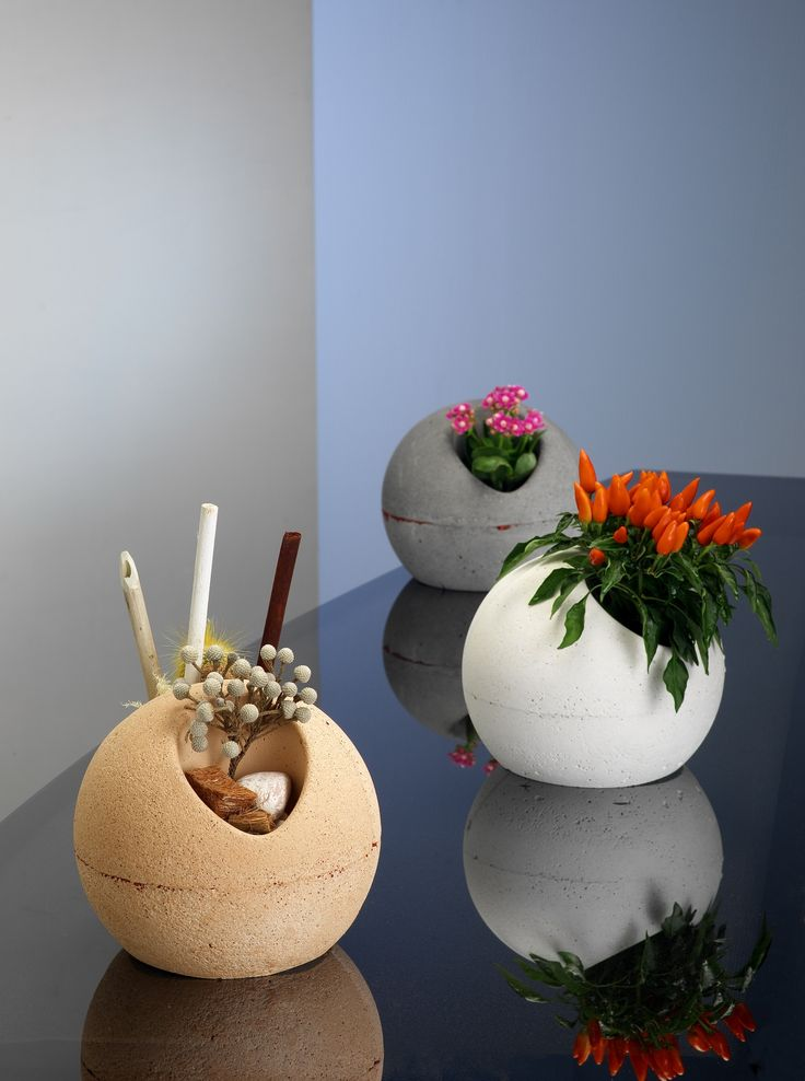 MOON SHADOW  Yellow /  White  / Grey Table Doble Vase by NOVOTONO