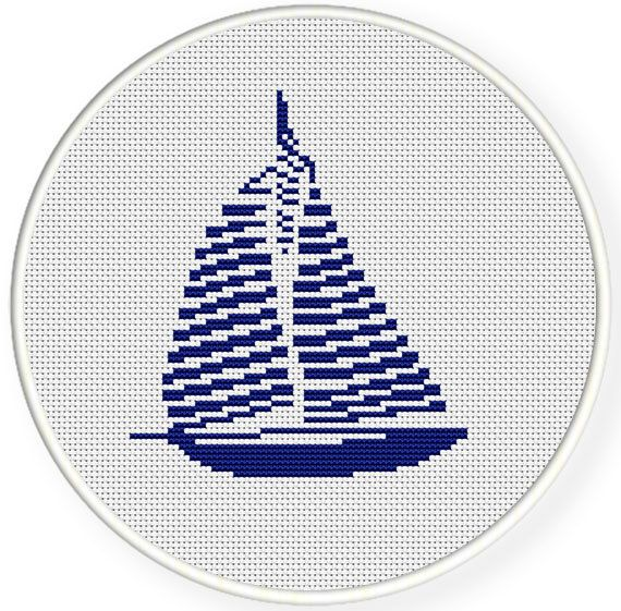 Instant download,free shipping,Counted Cross stitch pattern,Cross-Stitch PDF, sailboat,zxxc0359 – Irena Kucel