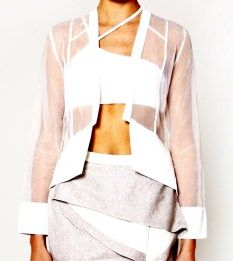 Pink Stitch estelle jacket with sheer panel detail, gorgeous. $135 from www.threadsandstyle.com.au