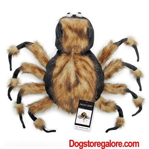 "Zack & Zoey Fuzzy Tarantula Costume for Dogs, 12"" Small [  Seriously scary! The Zack & Zoey Fuzzy Tarantula Costume will draw shrieks (of fright or of laughter!) from all who see it! This is the creepiest, crawliest, most hair-raising spider costume ever!    Plush fabric resembles real spider hair Eight bendable legs for multiple poses  ..."