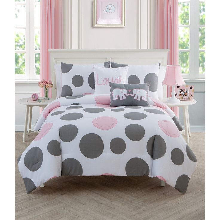 VCNY Big Believers Pink Parade Polka Dot 3-piece Comforter Set | Overstock.com Shopping - The Best Deals on Kids' Comforter Sets