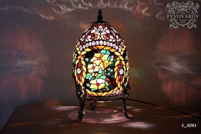 Витражный светильник Тиффани - лампы Тиффани в Украине