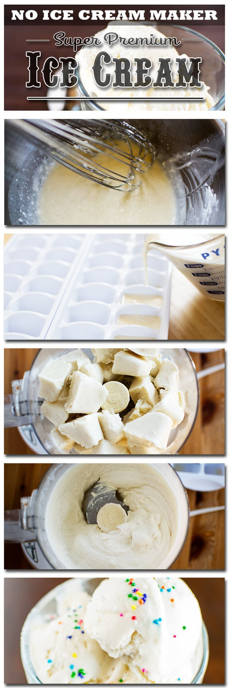 Stacey makes Super Premium Vanilla Ice Cream at home, without an ice cream maker!